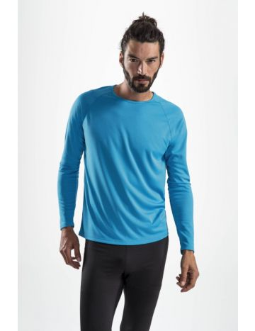 T-shirt respirant manches longues homme