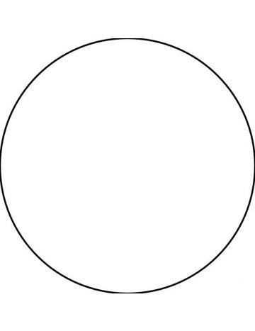 Stickers personnalisés ronds sur fond blanc