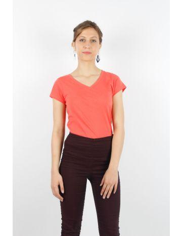 T Shirt col V Femme