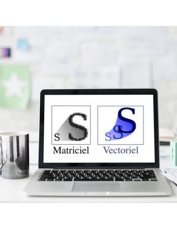 Détourage et Vectorisation d'un logo