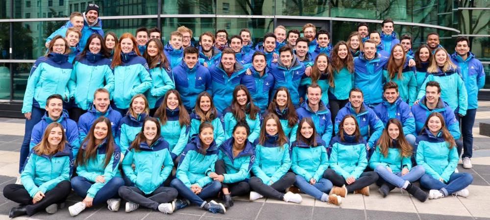 equipe de Altigliss GEM la coupe du monde de ski etudiant