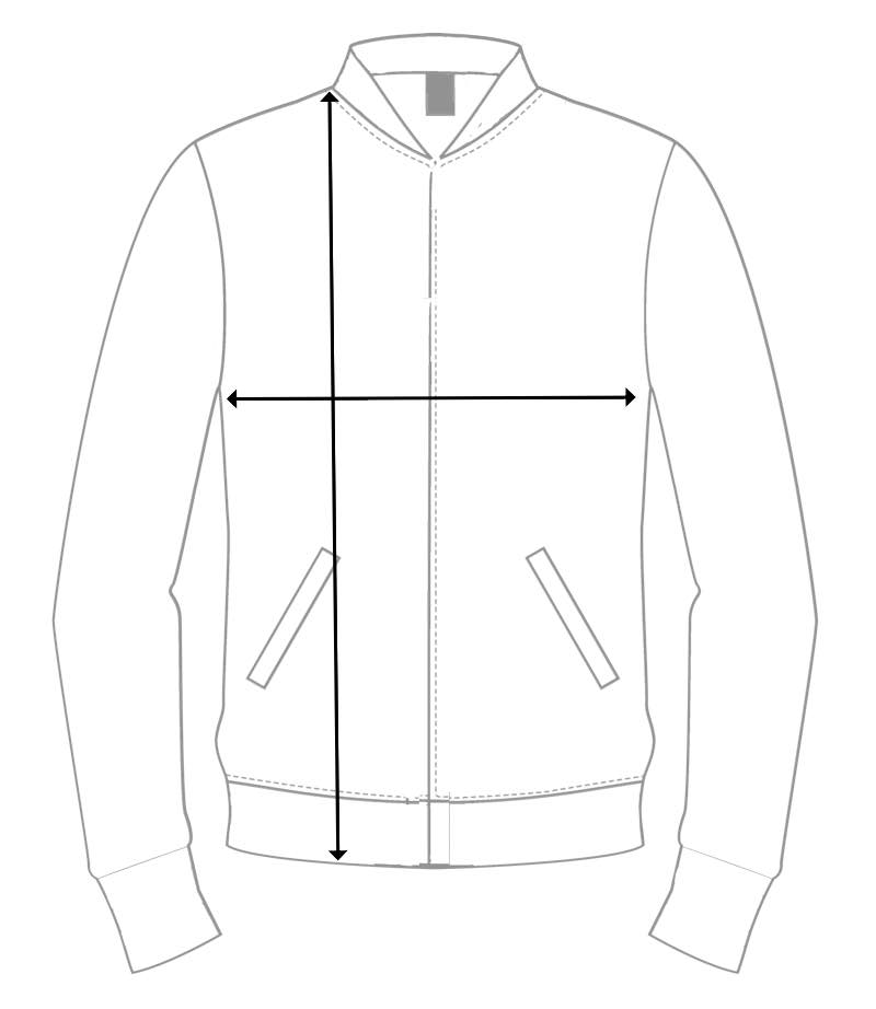 mensurations bomber personnalisable